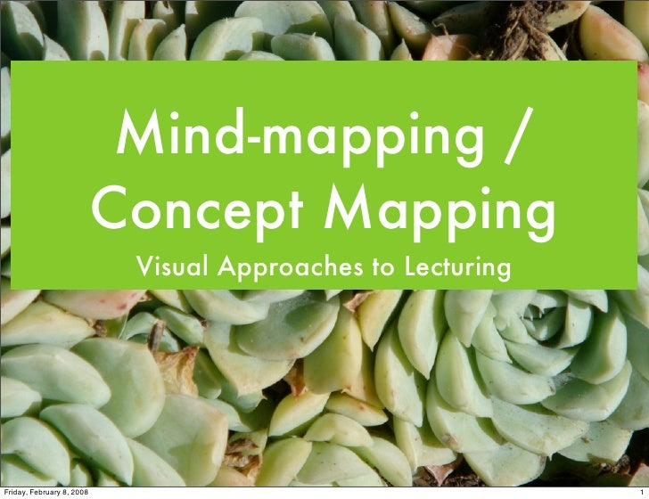 Mind-mapping /                            Concept Mapping                             Visual Approaches to Lecturing     F...