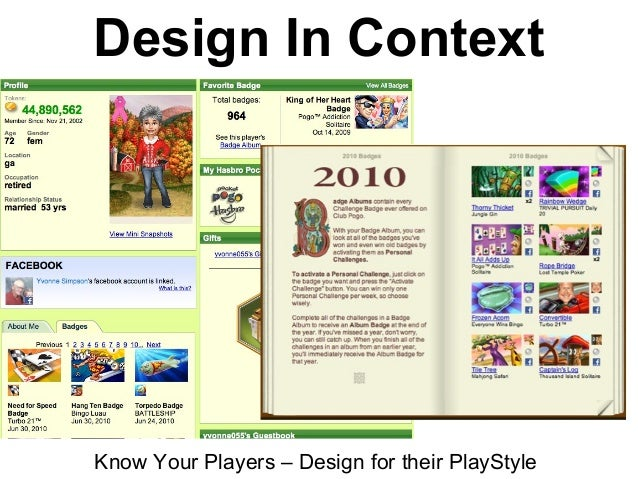 Design In Context Know Your Players – Design for their PlayStyle