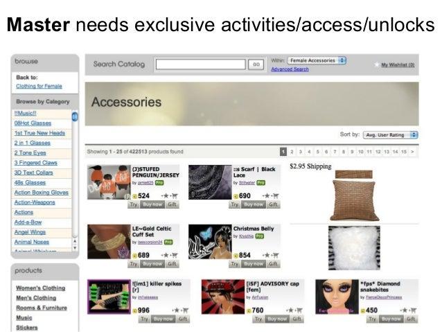 Master needs exclusive activities/access/unlocks