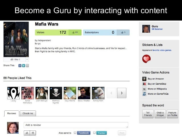 Become a Guru by interacting with content