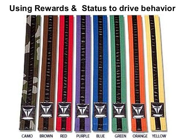 Using Rewards & Status to drive behavior