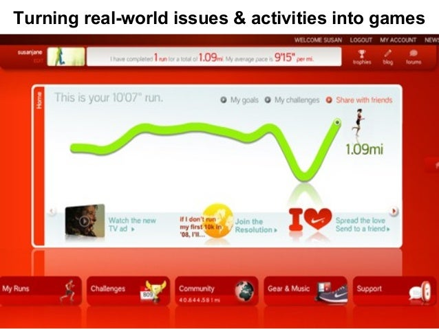 Turning real-world issues & activities into games