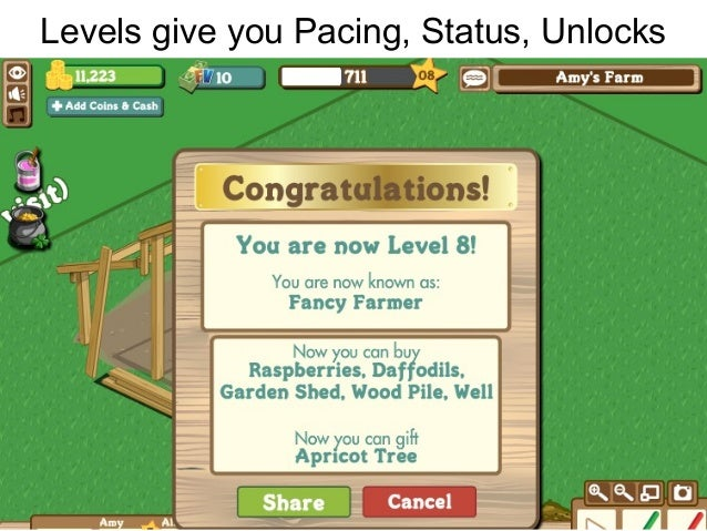 Levels give you Pacing, Status, Unlocks