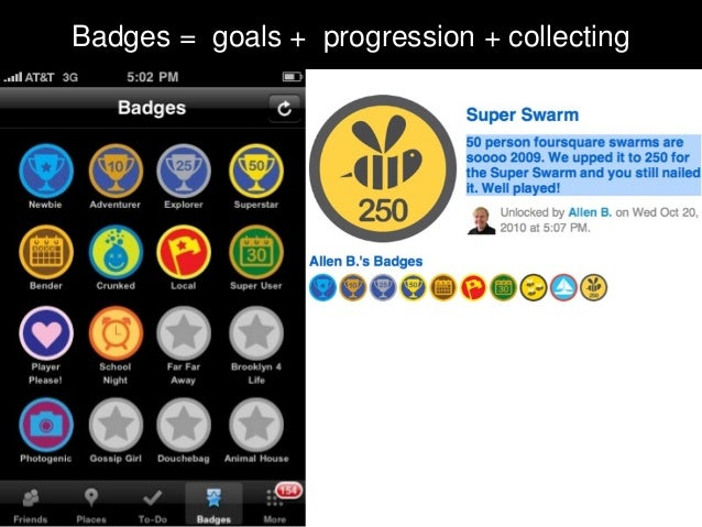 Badges = goals + progression + collecting
