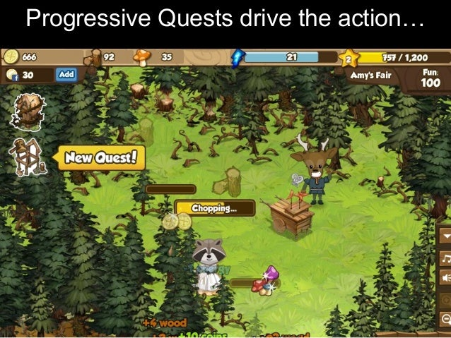 Progressive Quests drive the action…