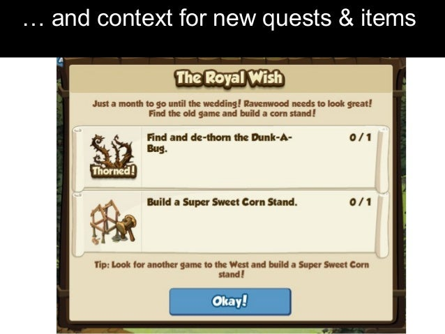 … and context for new quests & items