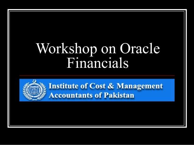 Workshop on Oracle Financials