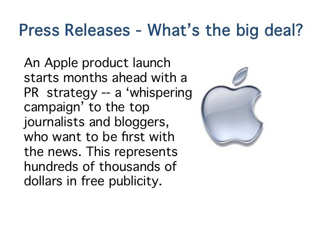 Writing a press release for a product launch process