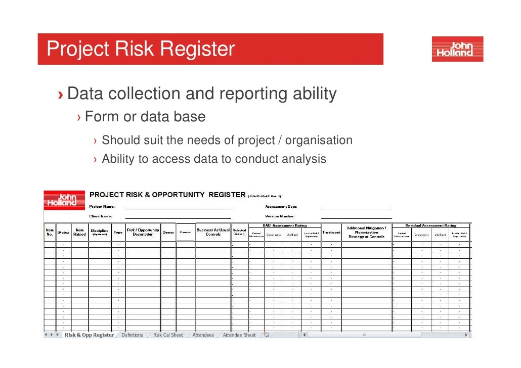Workshop Project Risk Management 29 June 2012