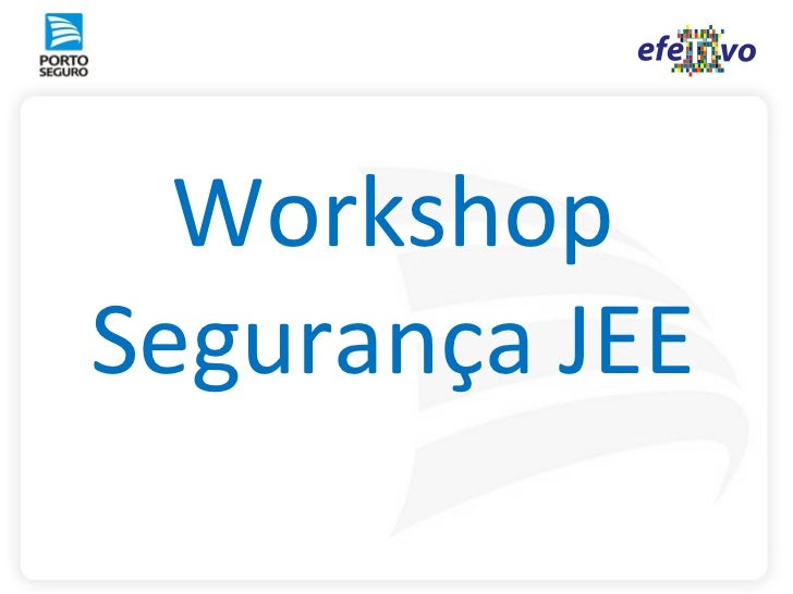 WorkshopSegurança JEE