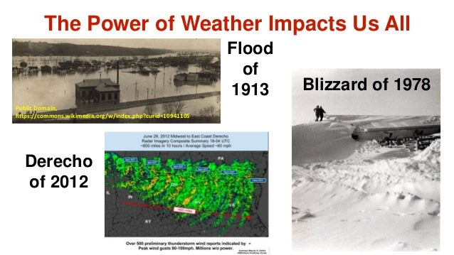 The Power of Weather Impacts Us All Flood of 1913 Public Domain, https://commons.wikimedia.org/w/index.php?curid=10941105 ...
