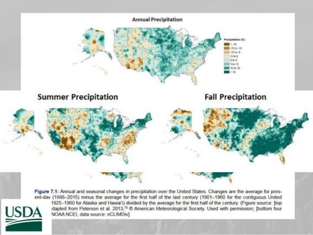 Projected precipitation