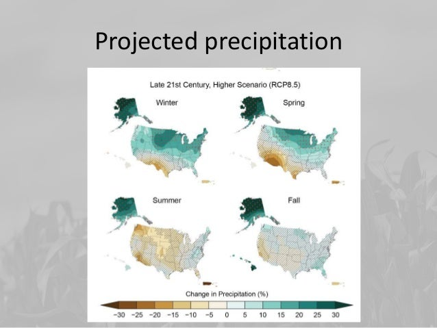 Seasonal Precip Changes • More in transition seasons • Can fall on already wet ground – Wetter – Less active growth • Prec...
