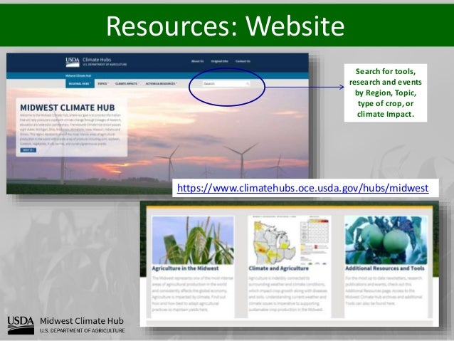 Resources: Operational Products Midwest Ag-Focus Climate outlook