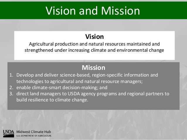 Vision and Mission Vision Agricultural production and natural resources maintained and strengthened under increasing clima...