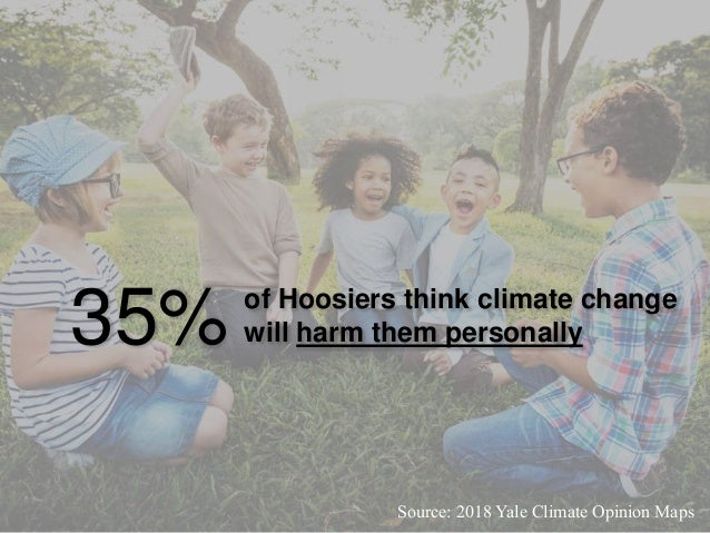 31% of Hoosiers talk about climate change at least occasionally Source: 2018 Yale Climate Opinion Maps
