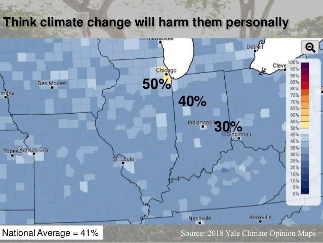 Source: 2018 Yale Climate Opinion Maps Talk about climate change occasionally National Average = 36% 24% 43%