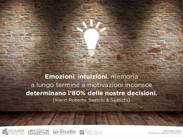 Per costruire una brand identity efficace  è fondamentale entrare in contatto  con le emozioni del nostro pubblico. OFFI...