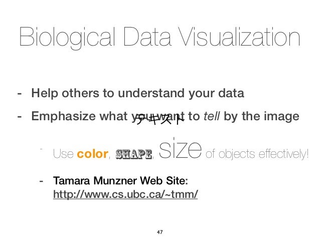 Biological Data Visualization- Help others to understand your data- Emphasize what you want to tell by the image          ...