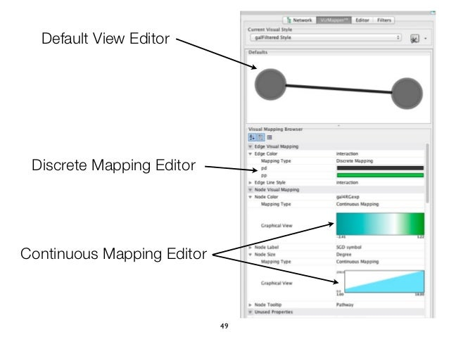 Default View Editor Discrete Mapping EditorContinuous Mapping Editor                            49
