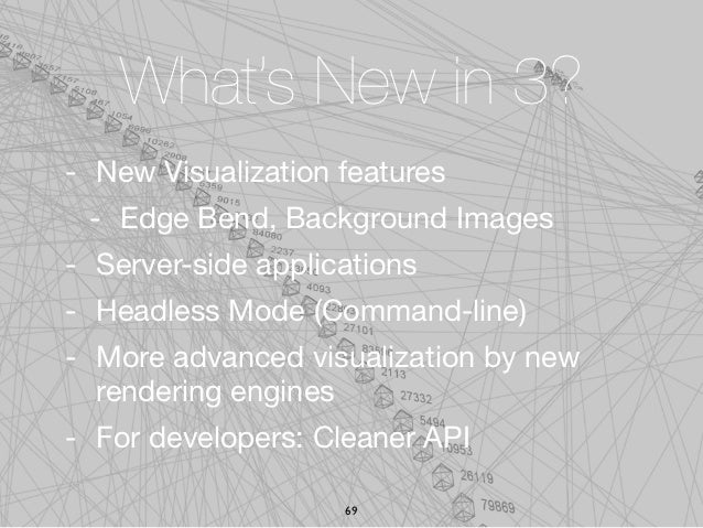 What's New in 3?- New Visualization features - Edge Bend, Background Images- Server-side applications- Headless Mode (Comm...