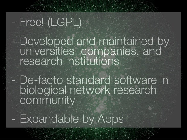 - Free! (LGPL)- Developed and maintained by  universities, companies, and  research institutions- De-facto standard softwa...