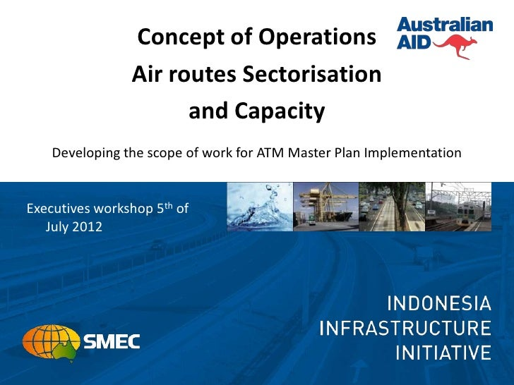 Concept of Operations                Air routes Sectorisation                      and Capacity    Developing the scope of...