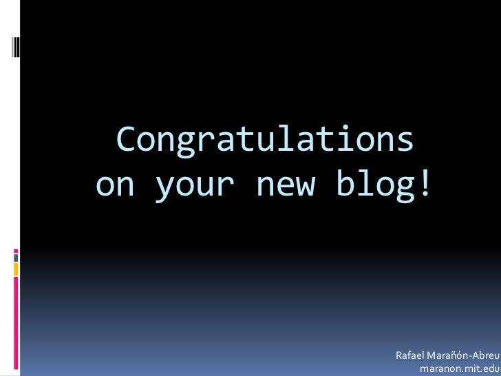 Workshop: Your very own MIT domain blog slideshare - 웹