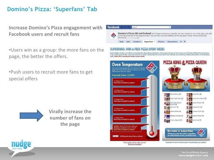 Domino's Pizza: 'Superfans' Tab <ul><li>Increase Domino's Pizza engagement with  Facebook users and recruit fans </li></ul...