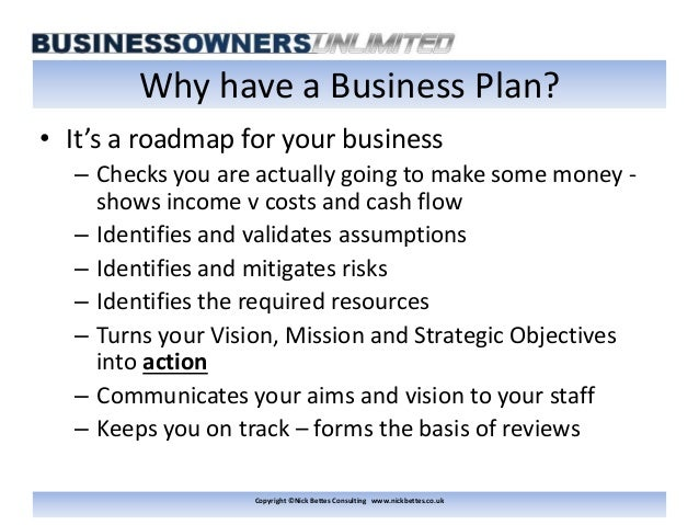 why make a business plan