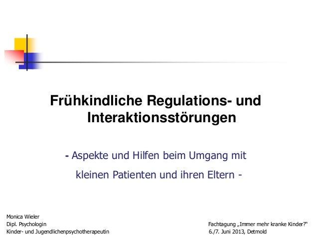 Workshop 2 frühkindliche regulationsstörungen