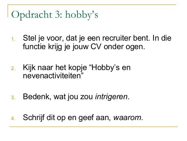 Workshop solliciteren: Wat is een goed CV? november 2013
