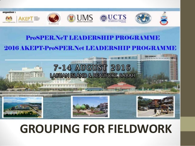 GROUPING FOR FIELDWORK
