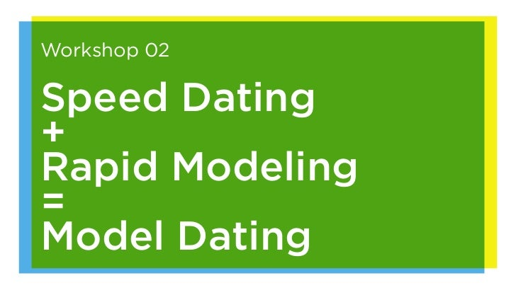 Workshop 02Speed Dating+Rapid Modeling=Model Dating