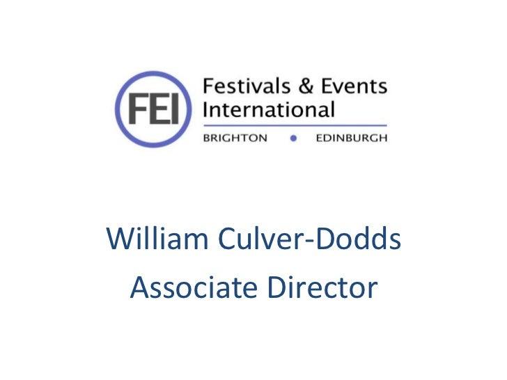 William Culver-Dodds Associate Director