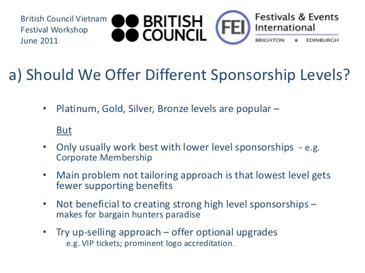 Sponsorship Levels And Benefits Template