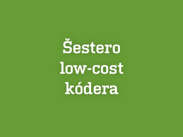 Šesterolow-cost kódera