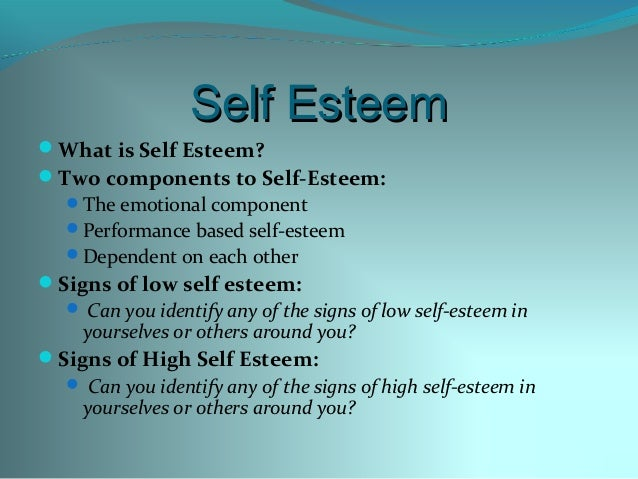 the high and low of self esteem People with overly high self-esteem are often arrogant, self-indulgent, and express feelings of entitlement low self-esteem: feeling inferior to others.