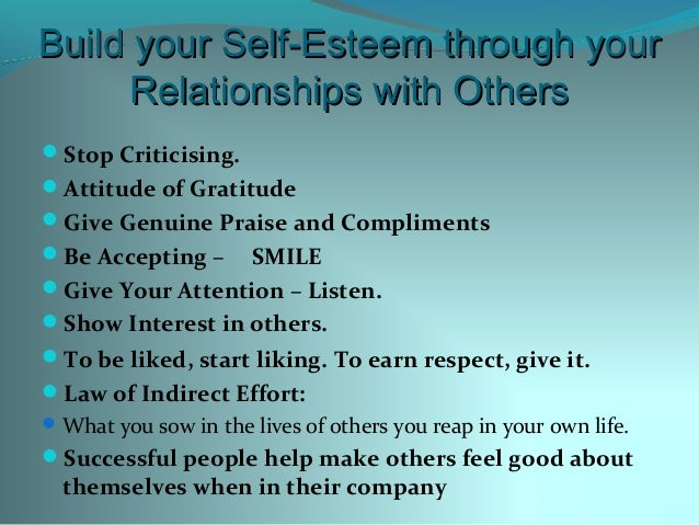 Have Relationship In Esteem A To How Self