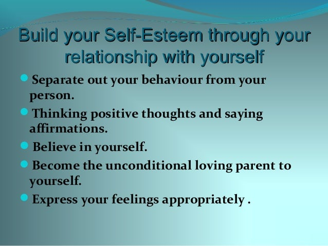 How To Have Self Esteem In A Relationship