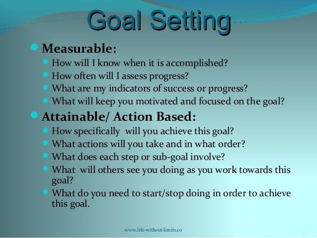 how to write measurable goals