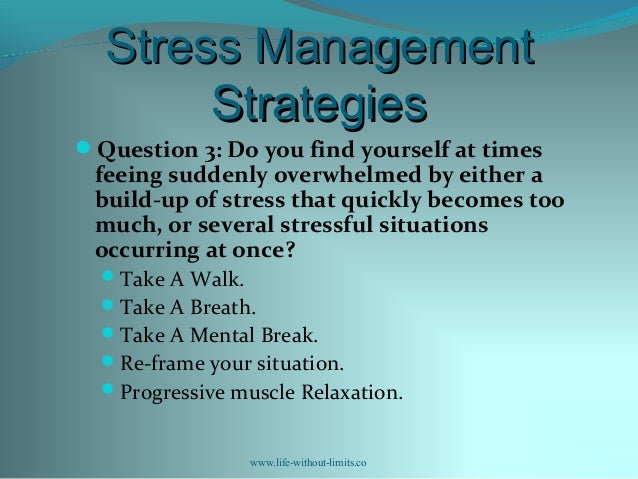 Workshop 6 SMART goal setting for stress reduction