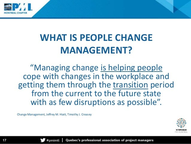 People and change management