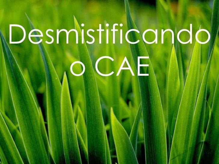 Desmistificando     o CAE