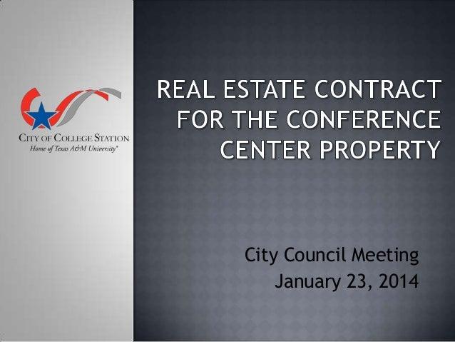 City Council Meeting January 23, 2014