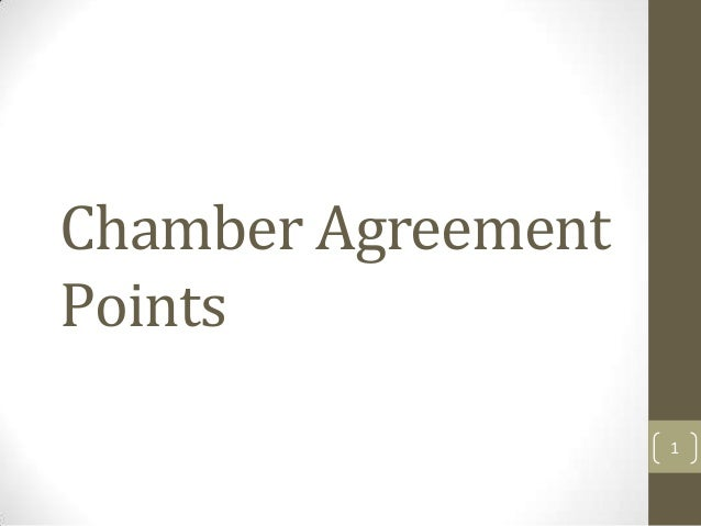 Chamber Agreement Points 1