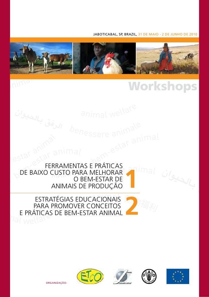 JABOTICABAL, SP, BRAZIL, 31 DE MAIO - 2 DE JUNHO DE 2010                                             Workshops            ...