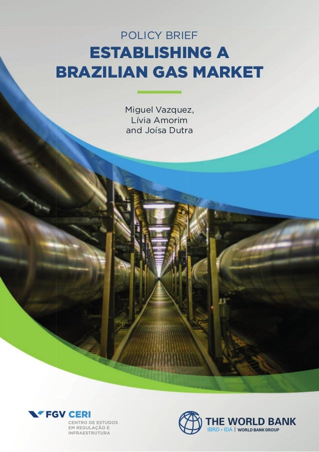 11 POLICY BRIEF ESTABLISHING A BRAZILIAN GAS MARKET Miguel Vazquez, Lívia Amorim and Joísa Dutra