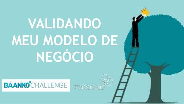 VALIDANDO MEU MODELO DE NEGÓCIO