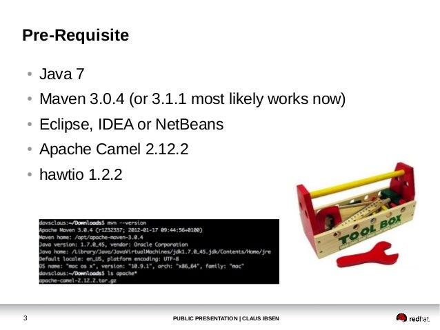 Apache Camel workshop at BarcelonaJUG in January 2014 Slide 3